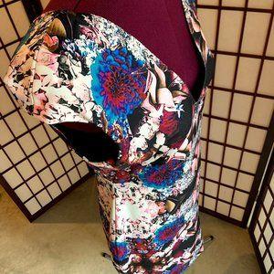 Floral Print Mini Bodycon Dress